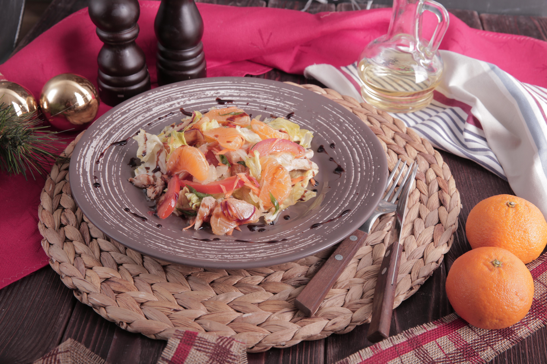 Шанхайский салат с курицей и мандаринами рецепт