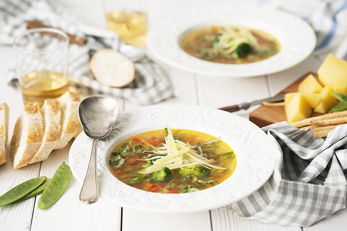 Суп с тертым сыром